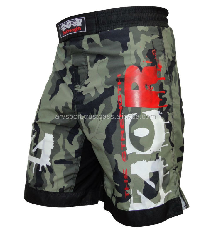 Wholesale custom design mma short high quality ZOR Camo MMA Fight Shorts cage fight running Pro MMA Shorts 2017 18 styles