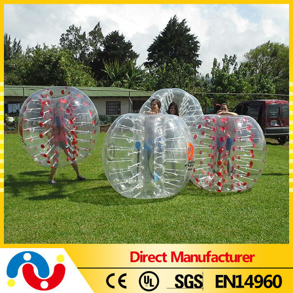 China cheap outdoor sport games inflatable clear human bumper balls for kids and adults wholesale