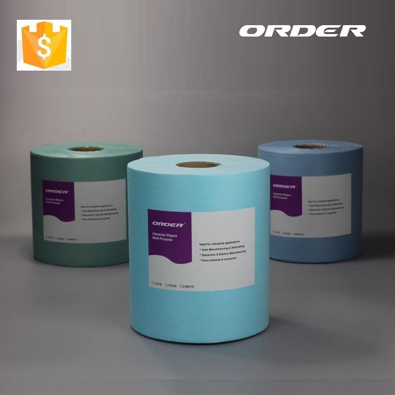 Jumbo Roll Light Blue Nonwoven Shop Wiping Towel