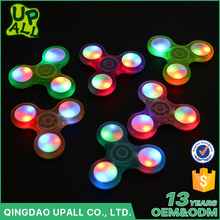 Hot Sale Custom LED Light Wind Hand Tri-Spinner Toys High Quality Luminous ABS 608 Bearing Fidget Spinners