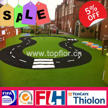 Preschool artificial grass carpets for kids play turf surface
