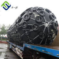 Anti-aging RSS3 natural rubber made Floating pneumatic rubber fender with Q236 materials fitting and flange