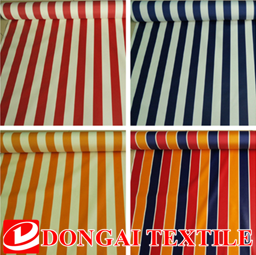 100% polyester woven pu coated polyester oxford printing stripe fabric
