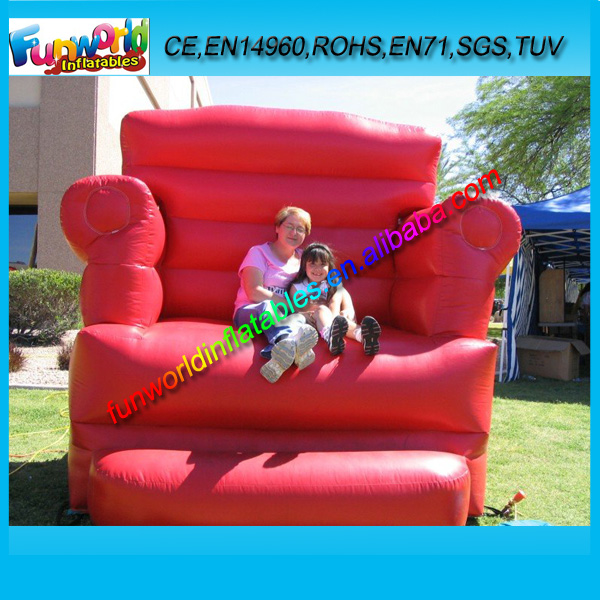 Big Red Chair Inflatable Promotion Model/ Inflatable Chair Bouncer for Sale (FUNPM1-007)