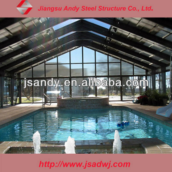Design Steel Space Frame Structures Swimming Pool Roof Cover