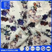100% polyester smooth soft imitation silk twisted satin chiffon fabric 50D*50D printed satin fabric