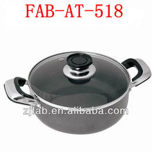 Large Cooking pot Aluminum non-stick saucepot with lid