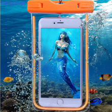 Waterproof case for iphone7 7plus underwater light box rear cover for iPhone 6S 6sp