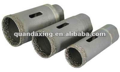 Vacuum brazed diamond core drill bit for granite,marble