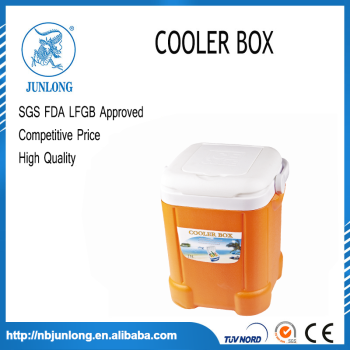 Portable Plastic Orange And White 15L Cooler Box