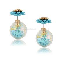 Flower Earring Stud Accessories Import Jewelry From China Clear Glass Ball Stud Earrings