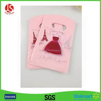 Plastic 4 color process die cut bags with logo
