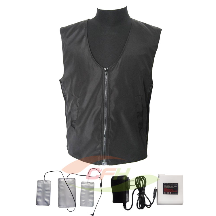 2014 New Rechargeable Li-ion Polymer Battery Heated Vest,Battery Heated Vest