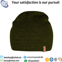 Custom leather patch beanies winter hats and beanies