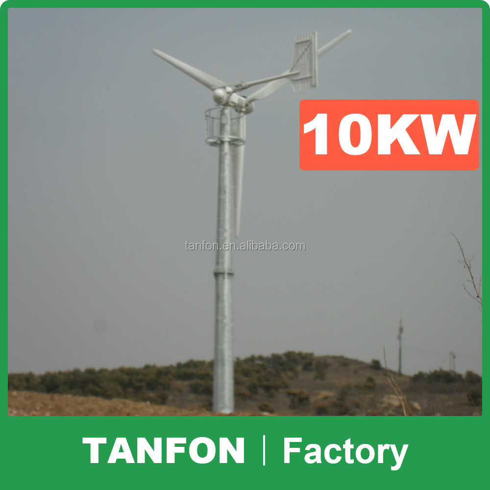 Popular Product Wind Turbine Types Commercial / Residential Wind Generators 10kw vertical wind turbine