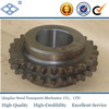 "OEM/ODM standard pitch 19.05mm 60B duplex roller chain 20T 3/4"" harden treatment with hub drive sprocket"