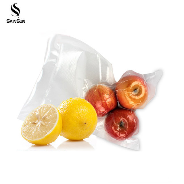 Small Die Cut Plastic Vacuum Pouch For Fish Fresh Chicken Meat Sausage Packaging