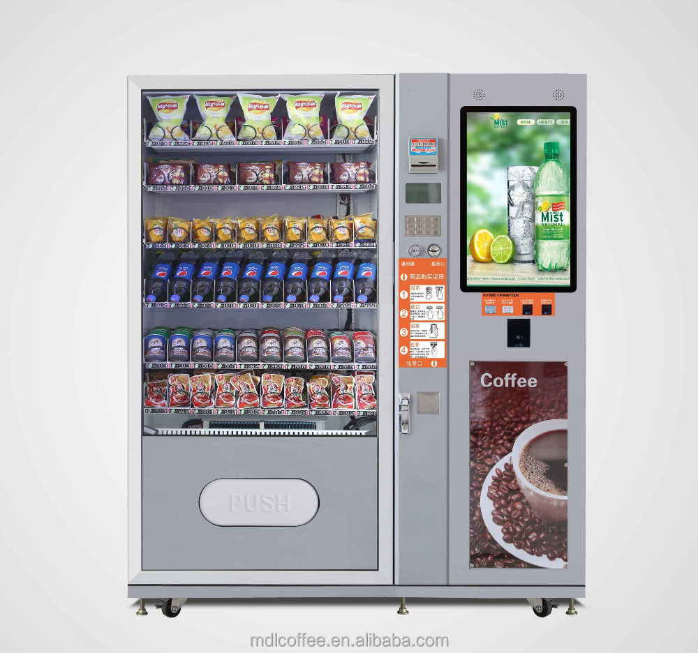 201607 Cold Beverage and Hot Snack Drink Vending Machine with 100% Factory Service with Remote Control