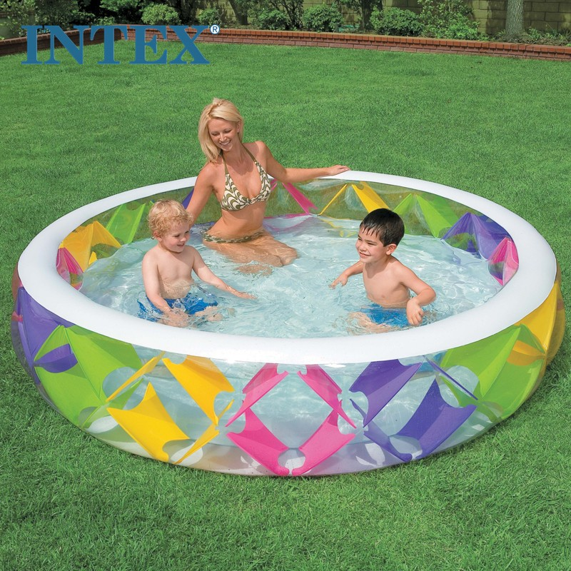 Intex 56494 multicolour windmill inflatable pool family swimming pool child ball pool
