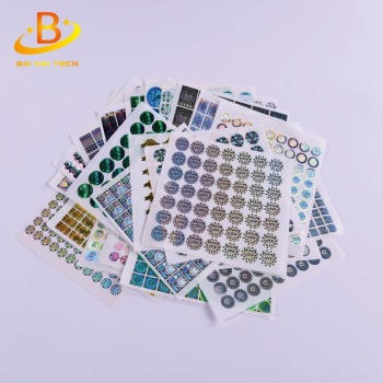 China manufacturer supply high quality best price adhesive eco-friendly waterproof durable custom security hologram sticker