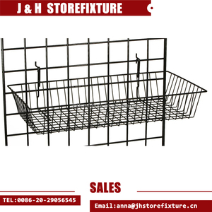 Gridwall mesh stand iron wire stackable shallow hanging basket
