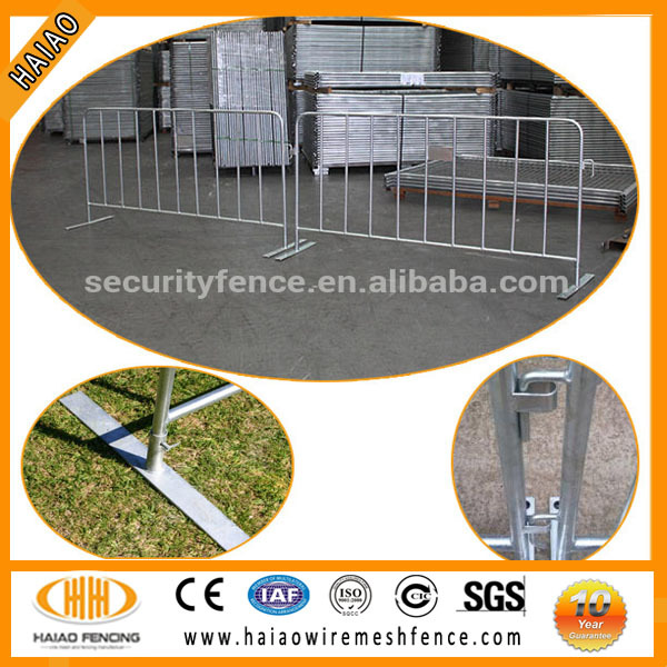 (10 years experience)Temporary Barricade/Galvanized Round Tube Crowd Control Barricade