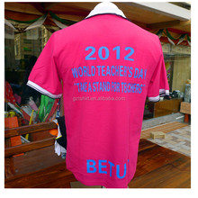 2016 Campaign election photo print 100%cotton polo t-shirt