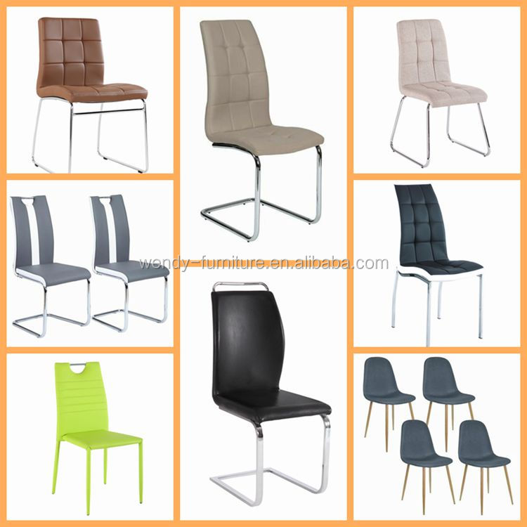 New design metal frame chair leather chair for dining room