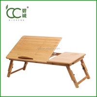 Height Adjustable Portable Bamboo/Wooden Laptop Stand Laptop Desk Wholesale China