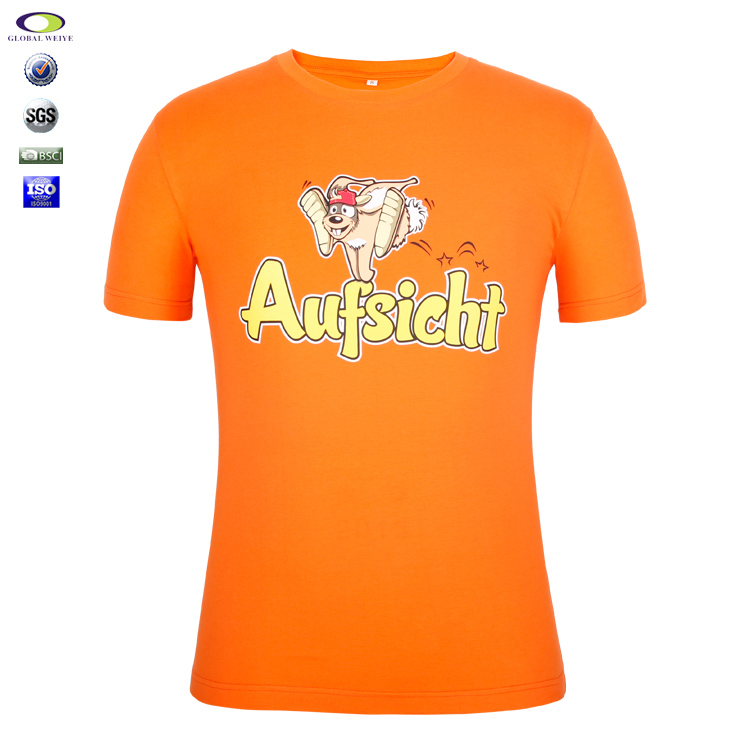 Custom High Quality White Cotton T-Shirts Screen Printing T Shirts