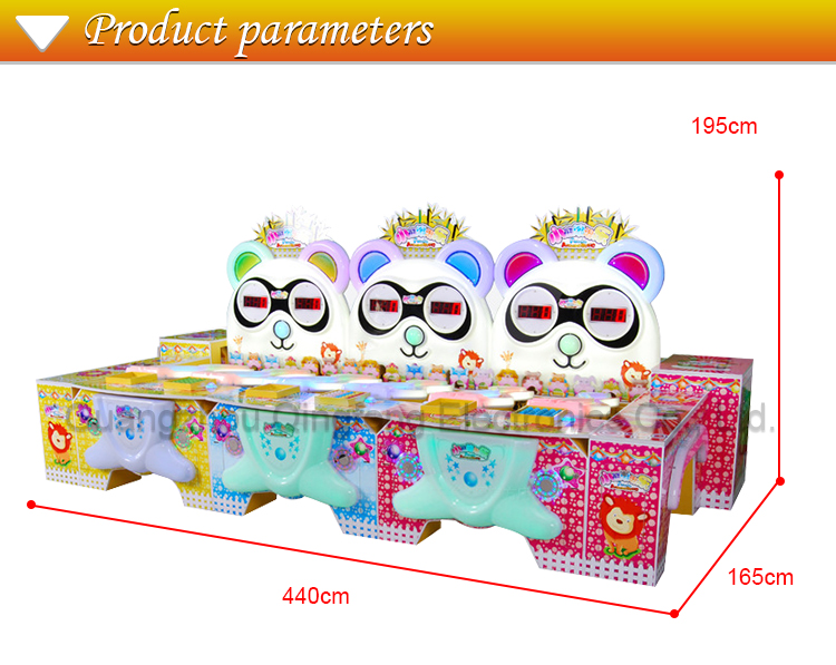 bear rolling game consoles children's booth games large coin entertainment video game equipment