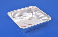 Large Square Disposable aluminium foil food Container /Takeout Meal Tray