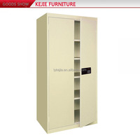 Office Electronic Coded Cabinet Stationery Cupboard Steel Filing Cabinet Sale with Four Adjustable Shelves