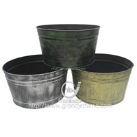 Large decorative flower pots garden metal large flower pots