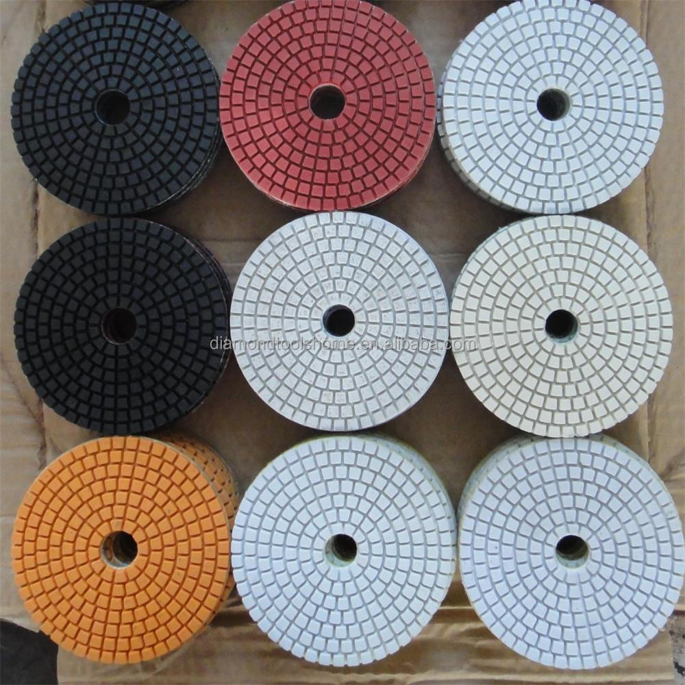 Stone hand tools dry/wet diamond no color fade marble polishing pads