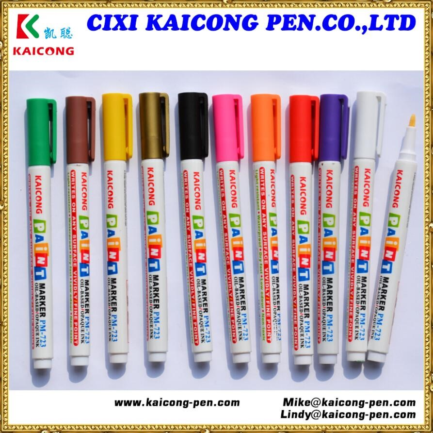 12 colors type aluminum barrel Oil-based Opaque ink Valve Action paint marker