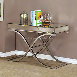 Top quality luxury acrylic mirrored console table with stainless steel legs