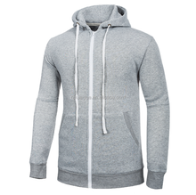 mens 70% cotton 30% polyester thick fleece slim fit hoodie