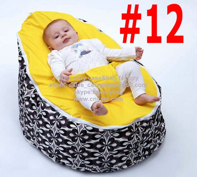RED + White cover seat Baby Crib or Kids Chair Indoor Or Out Cushion Beanbag