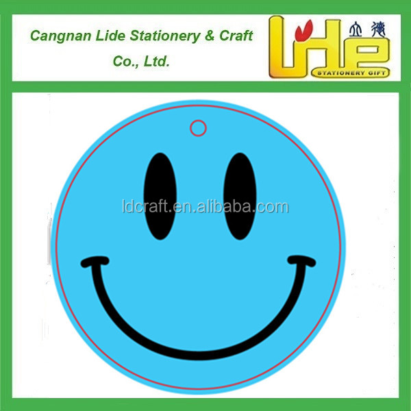 emoji blue big smile paper car air freshener / small size auto perfume / car freshener