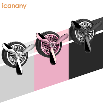 Mini Wheel shape perfume Car Vent clips aroma Air Freshener Luxury mount phone holder