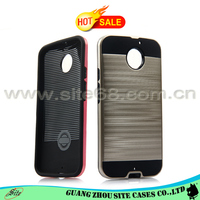 Hot selling brushed verus combo cell phone back case for motorola moto x2