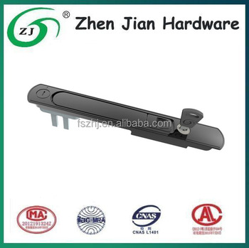 Key opened hardware lock with fork for sliding door, casement door