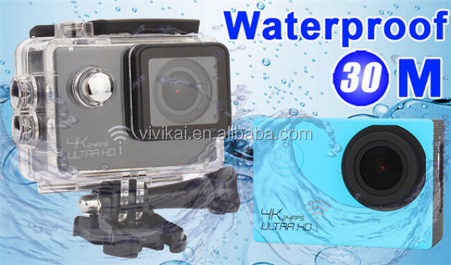 2016 Full HD 1080P 4k HD sports dv,exclusive private mode 30m waterproof soprt cam ,sports camera built-in wifi