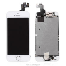 FOR APPLE IPHONE 5S LCD SCREEN DIGITIZER INCLUDES CAMERA, EARPIECE, SENSOR