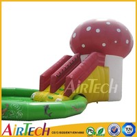 Commercial inflatable water slide combo Inflatable slip n slide used inflatable bouncy castle with water slide for kids