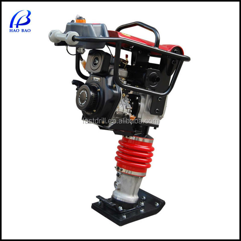 HTR80 Honda/Robin engine 75KG 10KN impact force gasoline tamping rammer, vibratory rammer