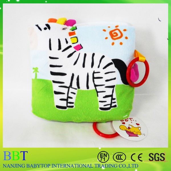 Cute Zebra Book Cloth Baby Early Education Soft Fabric Cloth Book