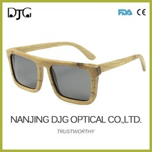 Hot-selling Italy Design Fashionable UV400 Polarized Wooden Sunglasses With Metal Hinge