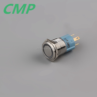16mm Brass 12 volt LED Push Button Switch